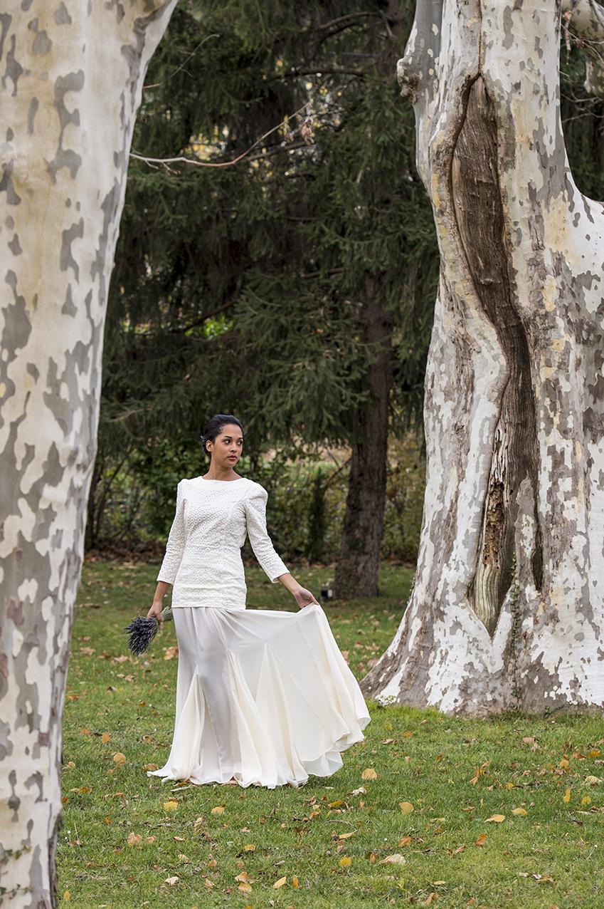 Mariée d'automne au Moulin de la Recense à Ventabren