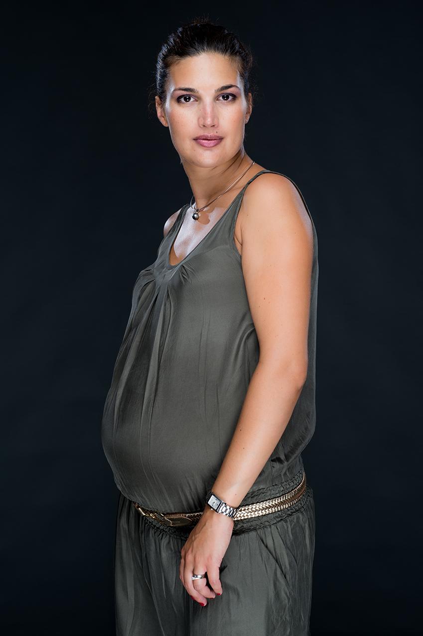 Laura enceinte de Sasha