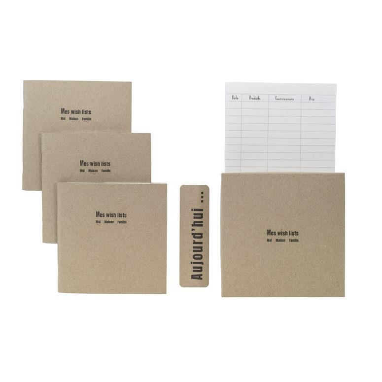 Box Wishlist 3 carnets 3 destinations