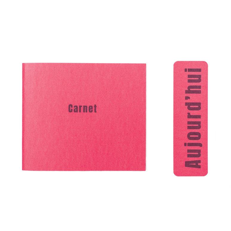 Carnet petit rectangle fluo rose