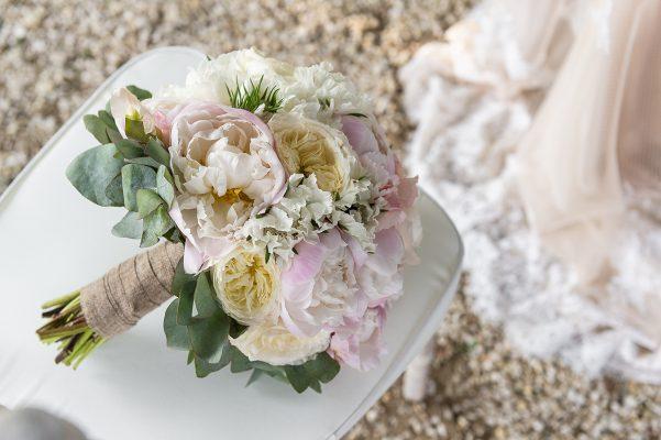 Bouquet de mariée aux couleurs pastelles