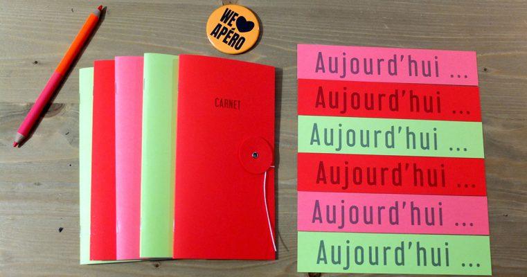 Du papier Fluo, des couleurs folles pour les carnets Chic and Crazy