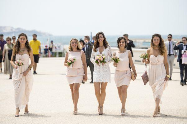L'arrivée de la Mariée pour la cérémonie civile Mairie du 1er à Marseille