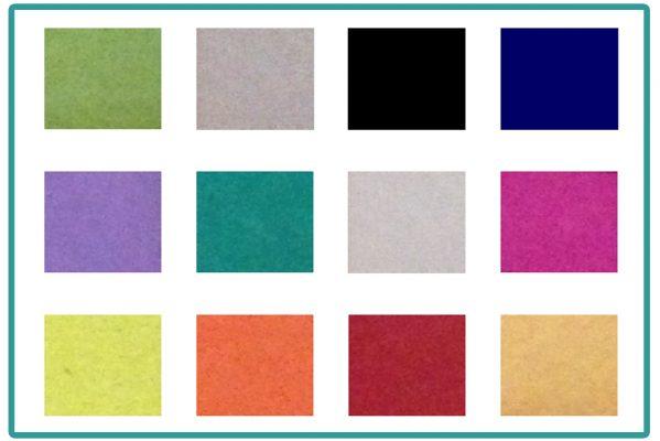 Nos couleurs de papiers recyclés liste non exhaustive !!