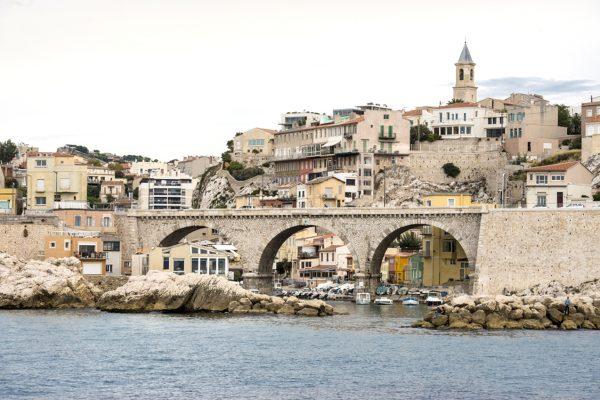 Vallon des Auffes, Marseille vu du large