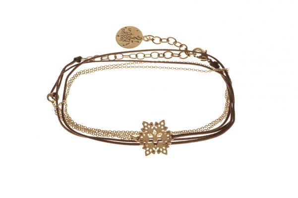 bracelet tissus, chainette, breloque